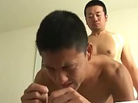 Asian mature bedroom anal playing