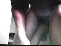 Hung black guy swings his huge cock