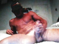 Very hot straight guy jerking his huge dick on cam