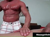 Lucky dude gets amazing gay massage with toy
