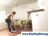 Hot amateur straighty gets massage