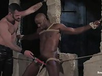 Bondaged Ebony Guy Gets Used