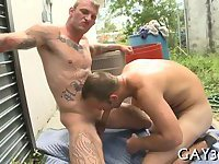 Extremely hot gay fucking