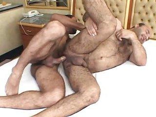 Chubby Bear Taking Hard Dick Deep Inside