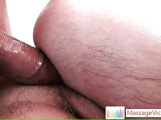 Anal after oral in massage room