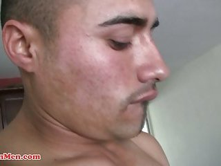 Hot gay latino guy sucks big cock