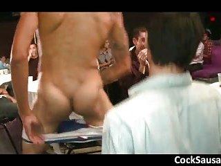 Horny guys go crazy on a cock