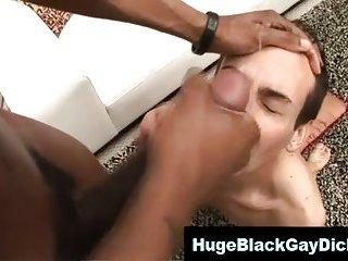 Gay interracial big cock facial