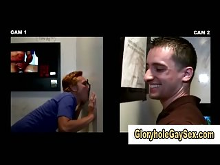 Gay sucks glory hole dick