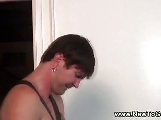 Virgin white ass gets fucked then cumshot on it