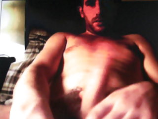 Straight hairy dad shows his cock on cam