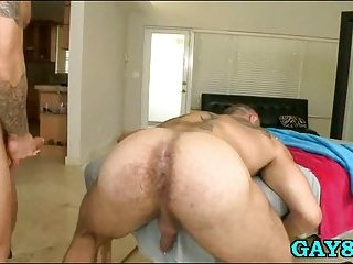 Sucking his thick cock