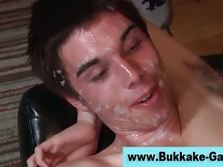 Horny white and dark meat cumshots