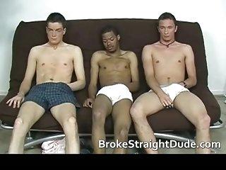 Super hot straight but broke dudes having gay sex for money