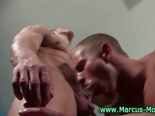 Marcus Mojo sucks hunks hard dick