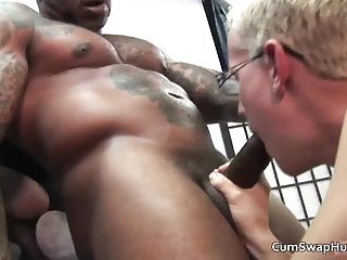 Hot sexy body cute blonde guy gets his tight ass wrecked