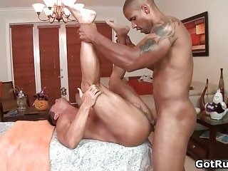 Beefcake stud fucks muscled gay hunk in the tight rectum