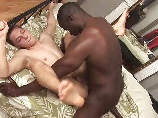 Horny Black Dude Stuffing White Ass