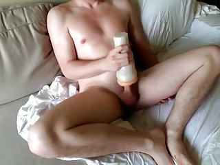 Horny Amateur On White Sheet