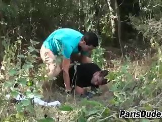 French gay amateurs cum outdoors