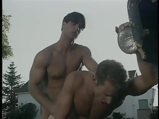 Lustful Gay Couple Outdoor Fuck