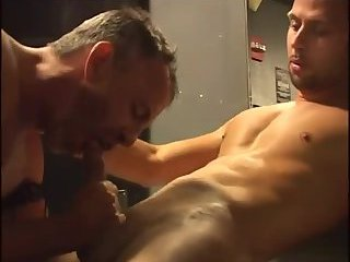 Aroused Guys Enjoy Blowjob