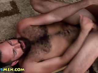 Gay stud ass fucks hairy bear