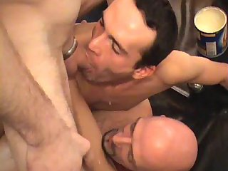 Sexy Gay Trio Ass Banging