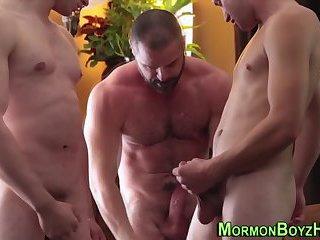 Mormon gets spitroasted