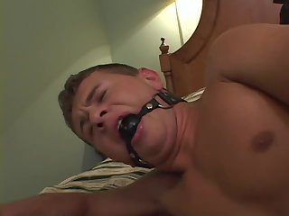 Gagged Hunk Gets Hardcore Fuck